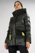Оптом Куртка зимняя болотного цвета 7389Bt в Екатеринбурге, фото 14