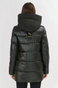 Оптом Куртка зимняя болотного цвета 7389Bt в Екатеринбурге, фото 5