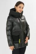 Оптом Куртка зимняя болотного цвета 7389Bt в Екатеринбурге, фото 8