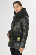 Оптом Куртка зимняя болотного цвета 7389Bt в Екатеринбурге, фото 9