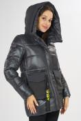 Оптом Куртка зимняя темно-серого цвета 7389TC в Екатеринбурге, фото 10