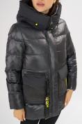 Оптом Куртка зимняя темно-серого цвета 7389TC в Екатеринбурге, фото 12