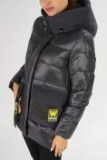 Оптом Куртка зимняя темно-серого цвета 7389TC в Екатеринбурге, фото 13