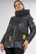 Оптом Куртка зимняя темно-серого цвета 7389TC в Екатеринбурге, фото 14