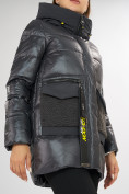 Оптом Куртка зимняя темно-серого цвета 7389TC в Екатеринбурге, фото 15