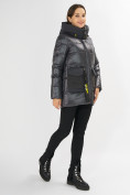 Оптом Куртка зимняя темно-серого цвета 7389TC в Екатеринбурге, фото 3