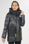 Оптом Куртка зимняя темно-серого цвета 7389TC в Екатеринбурге, фото 6