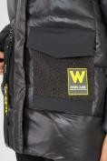 Оптом Куртка зимняя темно-серого цвета 7389TC в Екатеринбурге, фото 7