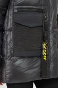 Оптом Куртка зимняя темно-серого цвета 7389TC в Екатеринбурге, фото 8