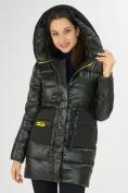 Оптом Куртка зимняя болотного цвета 7501Bt в Екатеринбурге, фото 10