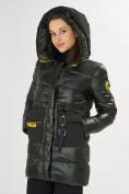Оптом Куртка зимняя болотного цвета 7501Bt в Екатеринбурге, фото 12