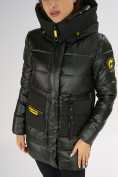 Оптом Куртка зимняя болотного цвета 7501Bt в Екатеринбурге, фото 14