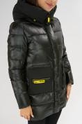 Оптом Куртка зимняя болотного цвета 7501Bt в Екатеринбурге, фото 15