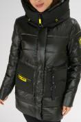 Оптом Куртка зимняя болотного цвета 7501Bt в Екатеринбурге, фото 16