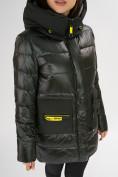 Оптом Куртка зимняя болотного цвета 7501Bt в Екатеринбурге, фото 17