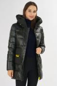 Оптом Куртка зимняя болотного цвета 7501Bt в Екатеринбурге, фото 19