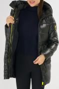 Оптом Куртка зимняя болотного цвета 7501Bt в Екатеринбурге, фото 20