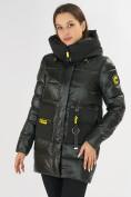 Оптом Куртка зимняя болотного цвета 7501Bt в Екатеринбурге, фото 5