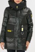 Оптом Куртка зимняя болотного цвета 7501Bt в Екатеринбурге, фото 7