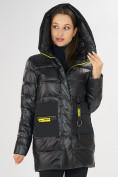 Оптом Куртка зимняя черного цвета 7501Ch в Екатеринбурге, фото 9