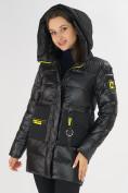 Оптом Куртка зимняя черного цвета 7501Ch в Екатеринбурге, фото 10