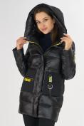 Оптом Куртка зимняя черного цвета 7501Ch в Екатеринбурге, фото 11