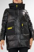 Оптом Куртка зимняя черного цвета 7501Ch в Екатеринбурге, фото 13