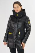 Оптом Куртка зимняя черного цвета 7501Ch в Екатеринбурге, фото 6