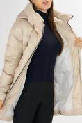 Оптом Куртка зимняя big size бежевого цвета 7519B в Екатеринбурге, фото 16