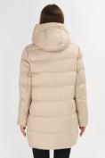 Оптом Куртка зимняя big size бежевого цвета 7519B в Екатеринбурге, фото 22