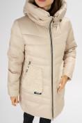 Оптом Куртка зимняя big size бежевого цвета 7519B в Екатеринбурге, фото 29