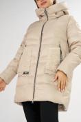 Оптом Куртка зимняя big size бежевого цвета 7519B в Екатеринбурге, фото 31