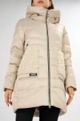 Оптом Куртка зимняя big size бежевого цвета 7519B в Екатеринбурге, фото 32