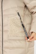 Оптом Куртка зимняя big size бежевого цвета 7519B в Екатеринбурге, фото 33