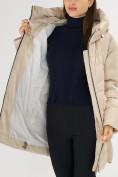 Оптом Куртка зимняя big size бежевого цвета 7519B в Екатеринбурге, фото 35