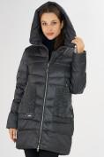 Оптом Куртка зимняя big size темно-серого цвета 7519TC в Екатеринбурге, фото 10
