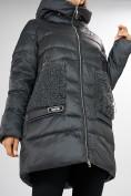 Оптом Куртка зимняя big size темно-серого цвета 7519TC в Екатеринбурге, фото 11