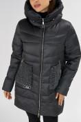Оптом Куртка зимняя big size темно-серого цвета 7519TC в Екатеринбурге, фото 12