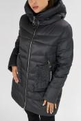 Оптом Куртка зимняя big size темно-серого цвета 7519TC в Екатеринбурге, фото 13