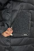 Оптом Куртка зимняя big size темно-серого цвета 7519TC в Екатеринбурге, фото 16