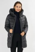 Оптом Куртка зимняя big size темно-серого цвета 7519TC в Екатеринбурге, фото 17