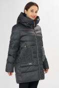 Оптом Куртка зимняя big size темно-серого цвета 7519TC в Екатеринбурге, фото 7