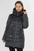 Оптом Куртка зимняя big size темно-серого цвета 7519TC в Екатеринбурге, фото 8
