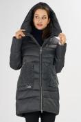 Оптом Куртка зимняя big size темно-серого цвета 7519TC в Екатеринбурге, фото 9
