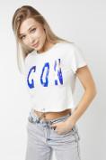 Оптом Топ футболка женская белого цвета 76014Bl в Екатеринбурге, фото 5