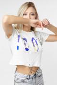 Оптом Топ футболка женская белого цвета 76014Bl в Екатеринбурге, фото 4