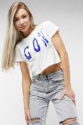 Оптом Топ футболка женская белого цвета 76014Bl в Екатеринбурге, фото 3
