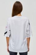 Оптом Женские футболки с принтом белого цвета 76024Bl, фото 6