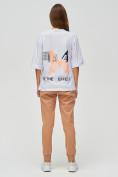 Оптом Женские футболки с надписями белого цвета 76025Bl, фото 2