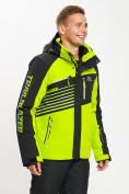 Оптом Горнолыжная куртка мужская зеленого цвета 77012Z в Екатеринбурге, фото 10